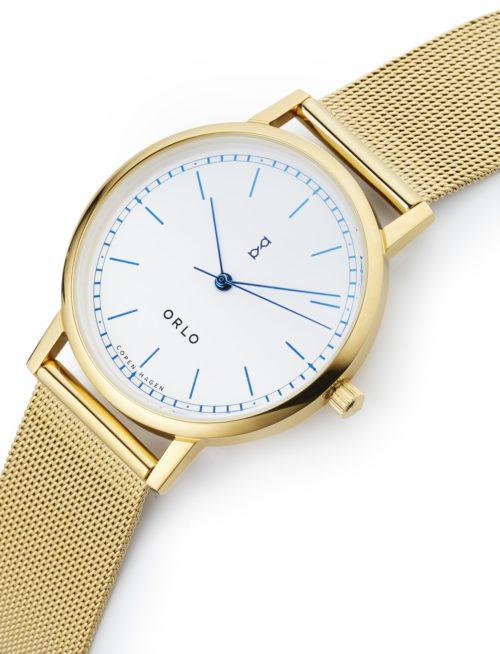 Gold White Mesh - Womens Watches - ORLO Danish Designer Watches