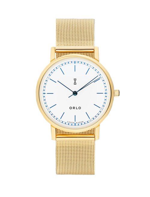 Gold White Petite - Womens Watches - ORLO Danish Designer Watches