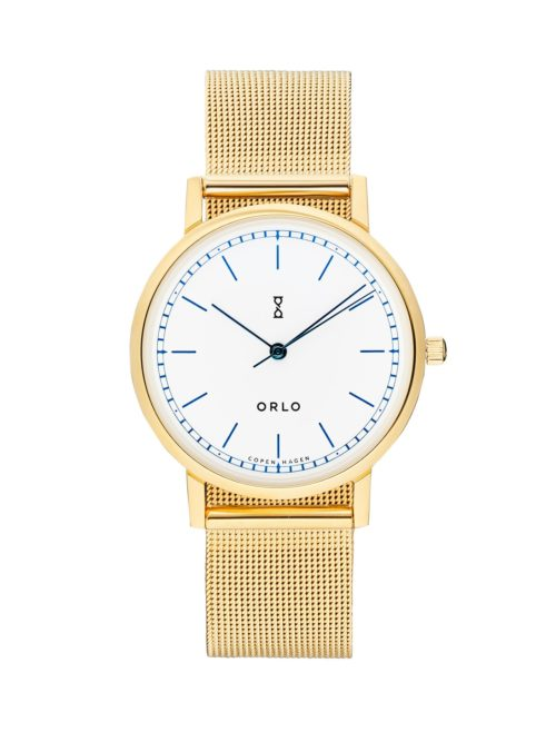 Gold White Petite - Womens Watches - ORLO Danish Designer Watches