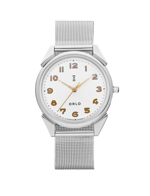 Steel White Mesh - Womens Watches - ORLO Danish Designer Watches