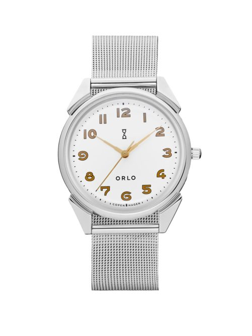 Steel White Mesh - Womens Watches - ORLO Danish Designer Watches