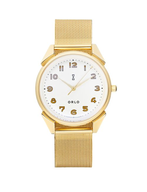 Gold White Mesh - Womens Watches - ORLO Danish Designer Watches